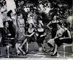 Cubanas Sociedad Habanera. Havana 1950 LIFE Magazine photo. High society Cuban women
