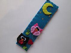 Owl bookmark - Felt bookmark - handmade bookmark - Special gift for readers and book lovers -   Segnalibro in feltro: Gufi innamorati  Regalo per di TinyFeltHeart