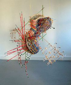 Nathalie Miebach's Woven Data Sculptures