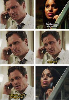Scandal - Olivia & Fitz #3.9 #Season3 #Olitz...Fitz keeping it real.