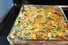 eggs florentine casserole, pioneer woman