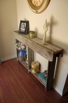 Thin Console Table 4 Foot Long Wall Runner Farm House Furniture Small Apartment…