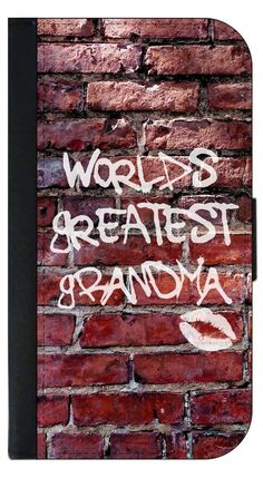 World's Greatest Grandma- Graffiti Brick Wall Apple iPhone 7 Plus PU Leather and Suede Wallet Style Phone Case Made in the USA. Quality Sturdy Wallet Phone Case with Magnetic Flap Closure and 3 Inner Pockets for Storage; Compatible with the Apple iPhone 7 Plus/7+ phone model (Not Compatible with the Standard Apple iPhone 7). Quick Processing and Shipping! Satisfaction Guaranteed!. Vibrant Flat Printed Design; No Textured/3d/Metallic Print. Rosie Parker's designs and images are registered...