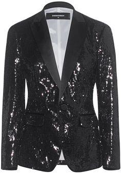 DSQUARED2 Sequin Blazer Black