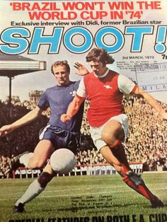 magazine in March 1973 featuring Arsenal v Chelsea on the cover. Chelsea Football, Chelsea Fc, British Football, Magazine Front Cover, Football Memorabilia, Runners High, Soccer Stars, World Football, Half Marathon Training