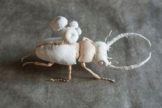 beetle-mushrooms textil art insect Soft von mysouldesign auf Etsy