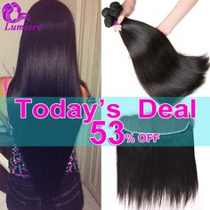 Lace Frontal Closure With 3Bundles 8A Mink Brazilian Virgin Hair With Closure Brazilian Straight Hair With Closure Human Hair