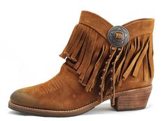 Old West Youth Brown with Orange Upper Square Toe Boots | Them ...
