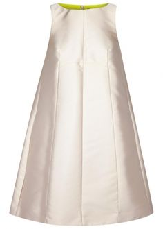 Oyster satin cocoon dress - Women