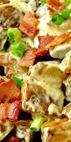Creamy Bacon Parmesan Potatoes