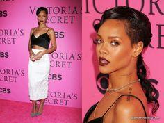 rihanna-victoria-s-secret-fashion-show-make-up-dark-lip-miu-miu-summer-spring-2013-crop-waist-top-stretch-pencil-skirt-glamazons-blog-opener