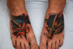 Pig Rooster Tattoo