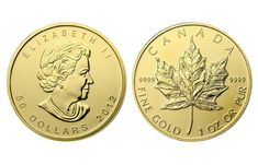 The Canadian Gold Maple Leaf is the official pure gold bullion coin of Canada. It is legal tender minted and guaranteed by the Royal Canadian Mint. This Gem Brilliant Uncirculated coin contains a full troy ounce of gold and is pure Introduce Sell Gold Coins, Sell Coins, Canadian Maple Leaf, Canadian Coins, Maple Leaf Gold, Coin Dealers, Silver Bullion, World Coins, Silver Prices