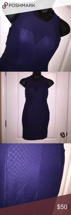 """Navy Sheer Paneled Guess Dress Sexy snake print sheet mesh Paneled bodycon dress. Armpit to hem is approximately 36"""". Color is classic navy, flash used to show details. NO TRADES Guess Dresses Midi"""
