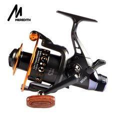 Meredith Fishing Reel Fishing Spinning Reel 5.2:1 2+1BB Double Drag Carp Feeder Fishing Reel Wheel Series 3000 4000 5000 6000