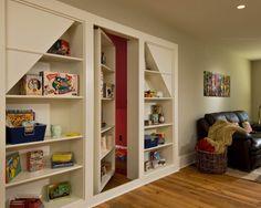 you've gotta love the hideaway bookcase entrance....