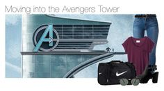 """Moving into the Avengers Tower"" by thatweirdgirlkris ❤ liked on Polyvore featuring Frame Denim, rag & bone, NIKE, Linea Pelle, Ray-Ban, kitchen, imagine, Avengers, marvel and preference"