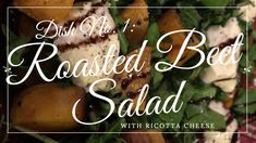 This salad is light, it's refreshing and it's made mostly from ingredients you'll find at the farmers' market, minus the cheese, which is a bit optional really, when you have golden beets gleaming in your salad bowl. Roasted Beet Salad, Beet Salad Recipes, Salad Bowls, Tasty Dishes, Farmers Market, Cheese, Eat, How To Make, Food