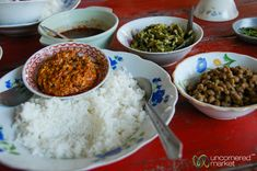 Variety and flavour. The Burmese thali.