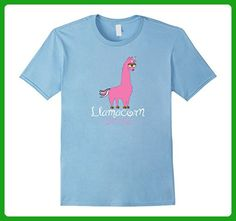 Mens Llamacorn Shirt, Funny Llama and Unicorn T-Shirt 3XL Baby Blue - Fantasy sci fi shirts (*Amazon Partner-Link)