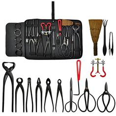 This bonsai tool kit made of carbon steel can be applied in the whole process of nurturing your favourite bonsai. With this bonsai tool kit you can work and loose the bonsai soil also can cut the bo...