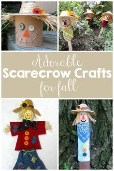 Adorable Scarecrow Crafts for Fall - photo credit: Crafts by Amanda