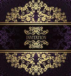 Golden-Royal-Floral-Pattern-Background-Vector-03.jpg (539×576)