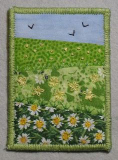 fabric ATC - Spring | Flickr - Photo Sharing!