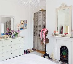 Renovated English Cottage | Interior Design Files - wardrobe made from old shutters!