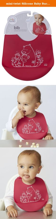mini-twist Silicone Baby Bucket Bib, Bears. The plastic-free Bucket-bib is made of pure, silky soft & reusable silicone that keeps your baby's sensitive skin happy & prevents single-use options from ending up in our oceans & landfills. Easily portable, the bucket bib rolls up and stores compactly for use at restaurants or on the go. Like all mini-twist products, the bucket bib is made from 100-percent pure, FDA-approved food-grade silicone, nonporous material produced from natural…
