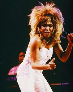 First concert I ever went to - about 9 years old. This is exactly what Tina looked like back then. <3
