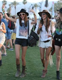 Miranda Kerr and Alessandra Ambrosio at Coachella, 2013