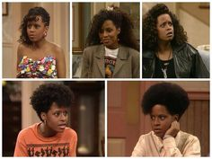 Vanessa Huxtable's various hairdos - The Cosby Show