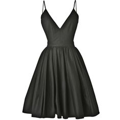 Contrarian Bibb dress in black ($380) ❤ liked on Polyvore