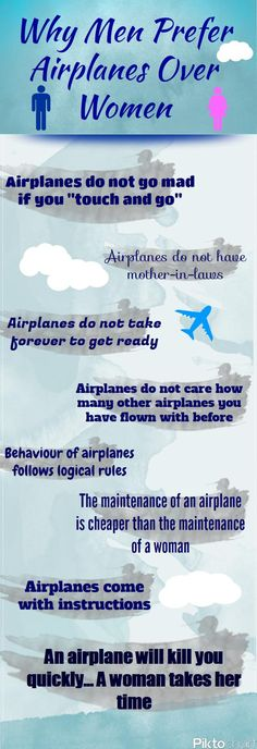 Why Men Prefer Airplanes Over Women