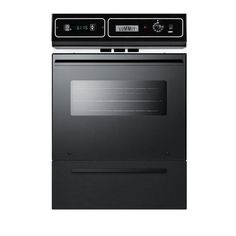 Summit Appliance 24 in. Single Gas Wall Oven in Black-TTM7212KW - The Home Depot