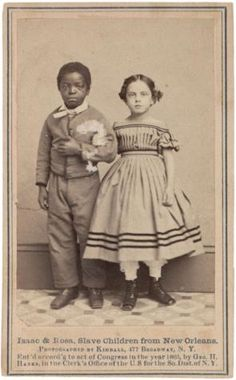 Issac & Rosa, Slave children from New Orleans, 1863 (Gilder Lehrman Collection)