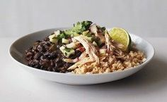 Black Beans and Rice with Chicken and Apple Salsa / Lisa Hubbard