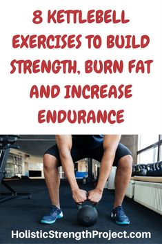 Kettlebell exercises are awesome. Learn which of them you can use to build strength, burn fat and increase anaerobic endurance. #kettlebell #exercises