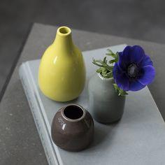 Form your own elegant miniature design tableau using the Botanica Miniature Vases.