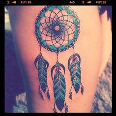 pretty dream catcher tattoo