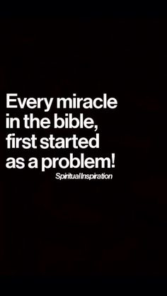 Wisdom Sayings & Quotes QUOTATION – Image : Quotes Of the day – Description Every miracle in the Bible first started as a problem – So relax! Have faith! He is a God of wonders! Sharing is Caring – Don't forget to share this quote with those Who Matter ! The Words, Miracles In The Bible, Bible Quotes, Bible Verses, Bible 2, Post Quotes, Bible Truth, Lyric Quotes, Movie Quotes