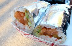 101 Best Food Trucks in America 2014 (Slideshow) Sweet Sticky Rice, Sushi Burrito, Food Truck Catering, Best Food Trucks, Los Angeles Food, Spicy Salmon, Best Beer, Daily Meals, I Foods