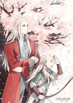 Thranduil and Legolas *-*