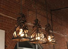 Part of the VOOS exhibit, these industrial light fixtures by Work and Design were beautiful.
