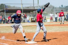Bang Bang play at first base. © Flashover Photography #Flashover Photography #LittleLeagueBaseball #YouthBaseball #PikeCountyCardinals