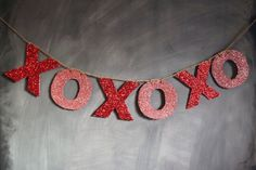 XOXO Glitter Banner by confettidesignshop on #Etsy