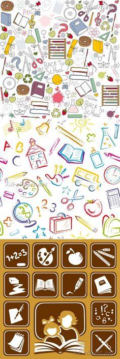 Векторный клипарт на школьную тематику | Stock Vectors - School Symbols