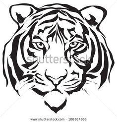 tiger tattoo stencil - Google Search