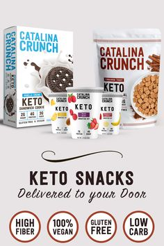 Save money💰 and time ⏰ by getting your favorite Keto-Friendly snacks delivered to your door 📦. Plant-Based, Gluten Free and only Net Carbs! Low Carb Cereal, Keto Cereal, Low Carb Desserts, Low Carb Recipes, Diet Recipes, Cereal Cookies, Keto Cookies, Cookie Crunch, Saving Money